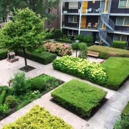 Biesot groenvoorziening tuin woningbouw vve vijfhuizen hoofddorp haarlem binnentuin